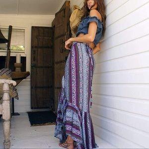 🆕 Blue/Purple Boho Gypsy Skirt